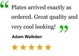 testimonial UK Show Plates and Legal Showplates